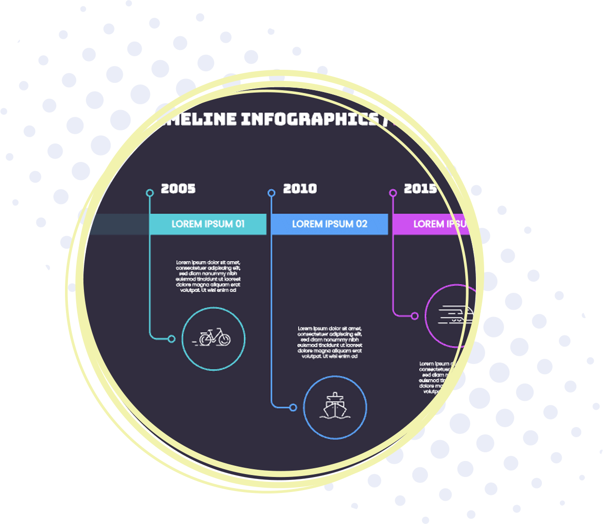 timeline type Infographic